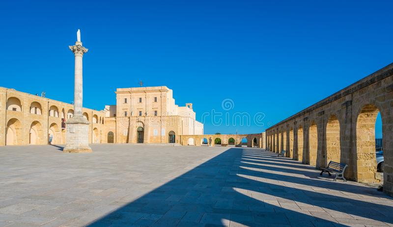 Santa Maria di Leuca Sanctuary, province de Lecce, Puglia, Italie du sud images stock