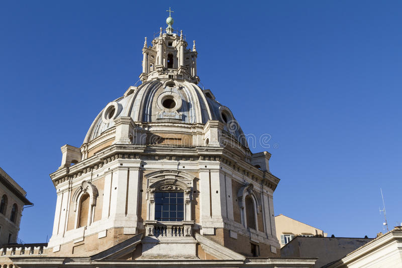 Santa Maria di Loretto Dome Rome royalty free stock photo