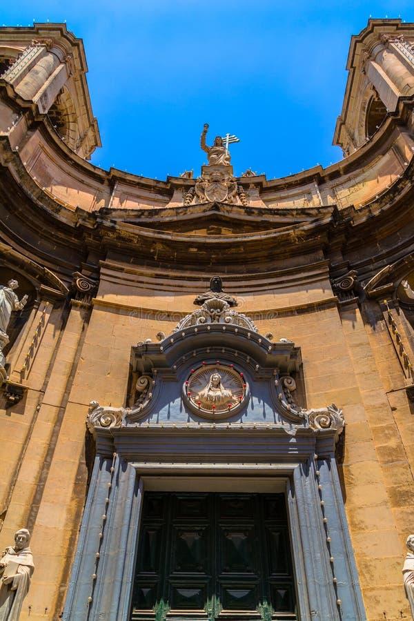 Santa Maria di Porto Salvo Facade fotografia de stock royalty free