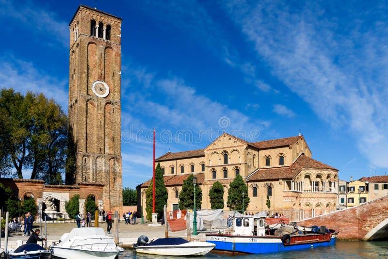 Santa Maria e San Donato, Murano ö, Venedig, Italien royaltyfria foton