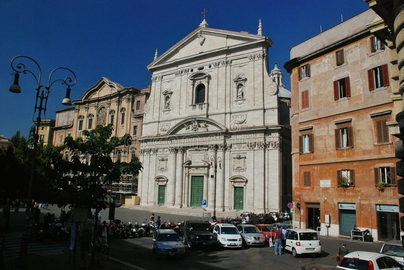 Santa Maria i den Vallicella kyrkan i Rome, Italien royaltyfria foton