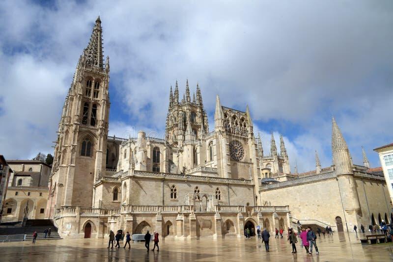 Santa Maria katedra w Burgos, Hiszpania zdjęcie royalty free
