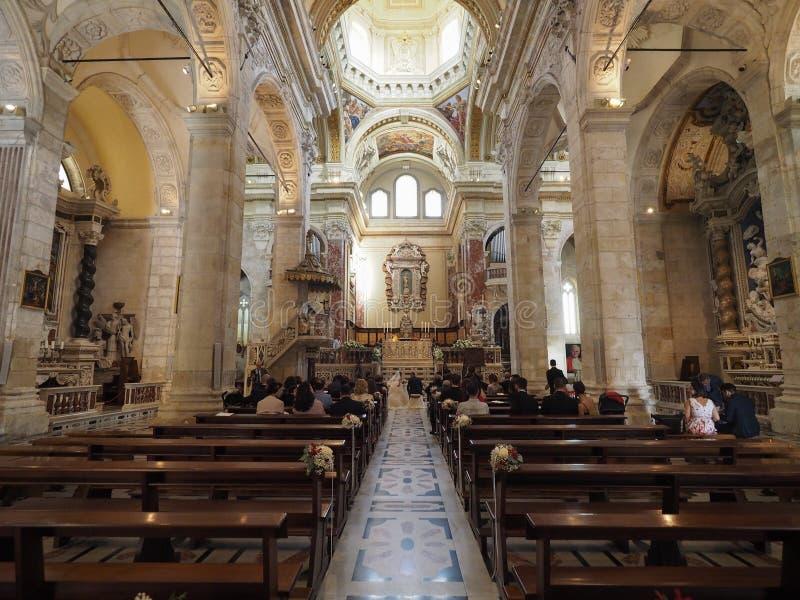 Santa Maria katedra w Cagliari zdjęcie stock