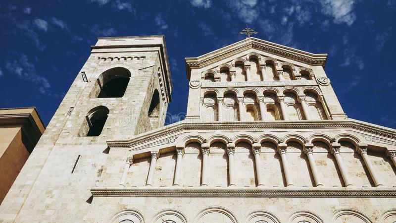 Santa Maria katedra w Cagliari obraz royalty free