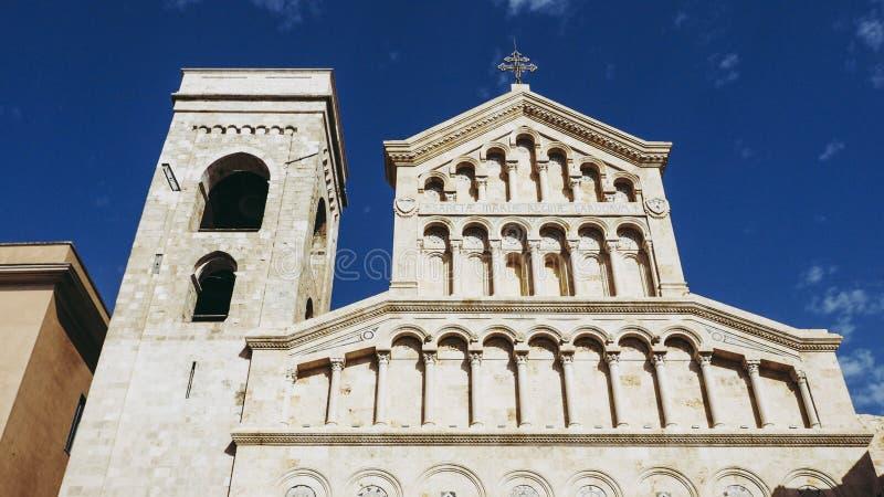 Santa Maria katedra w Cagliari zdjęcie royalty free