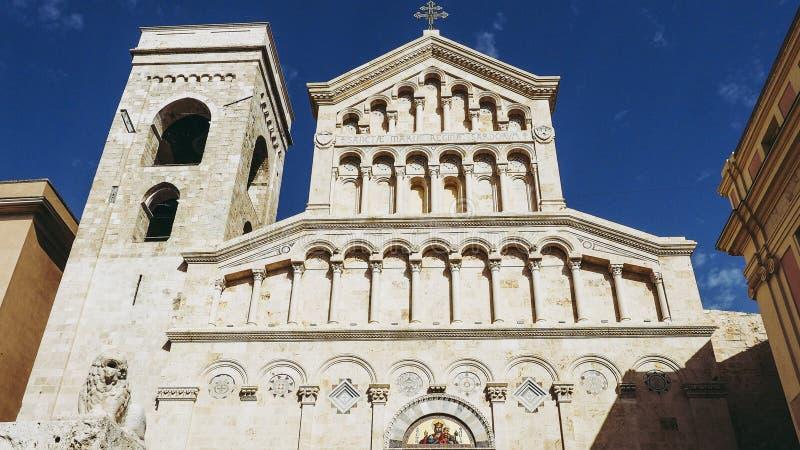 Santa Maria katedra w Cagliari fotografia royalty free