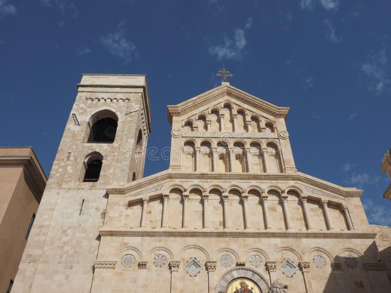 Santa Maria katedra w Cagliari fotografia stock