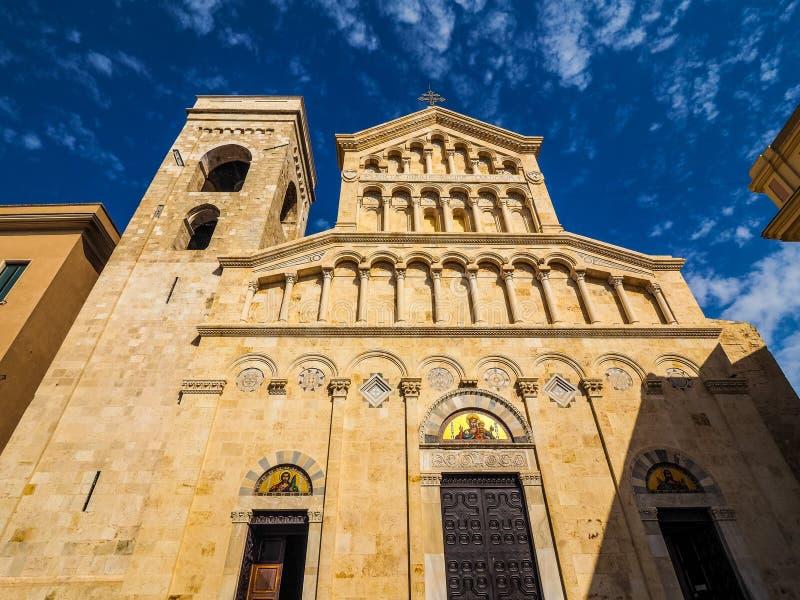 Santa Maria katedra w Cagliari (hdr) obrazy royalty free