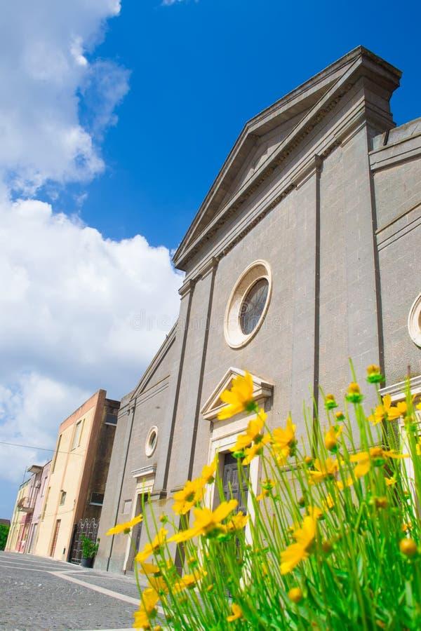 Download Santa Maria-kerk in Cabras stock foto. Afbeelding bestaande uit detail - 54075638