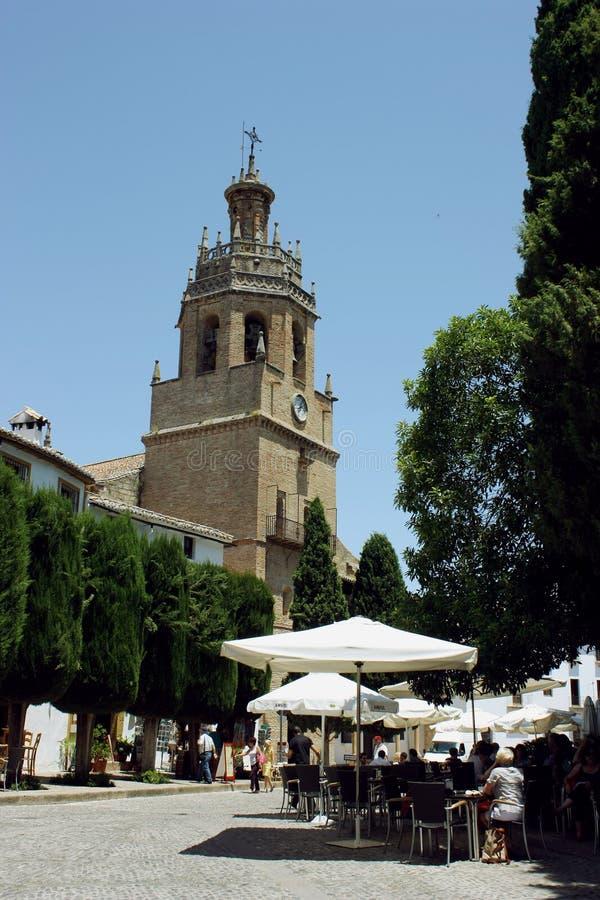 Santa Maria kościół w Ronda, Hiszpania obrazy royalty free