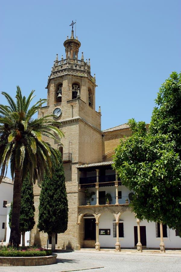 Santa Maria kościół w Ronda, Hiszpania zdjęcia stock