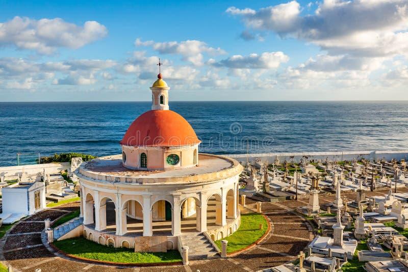 Santa Maria kyrkogård i San Juan Puerto Rico arkivfoton