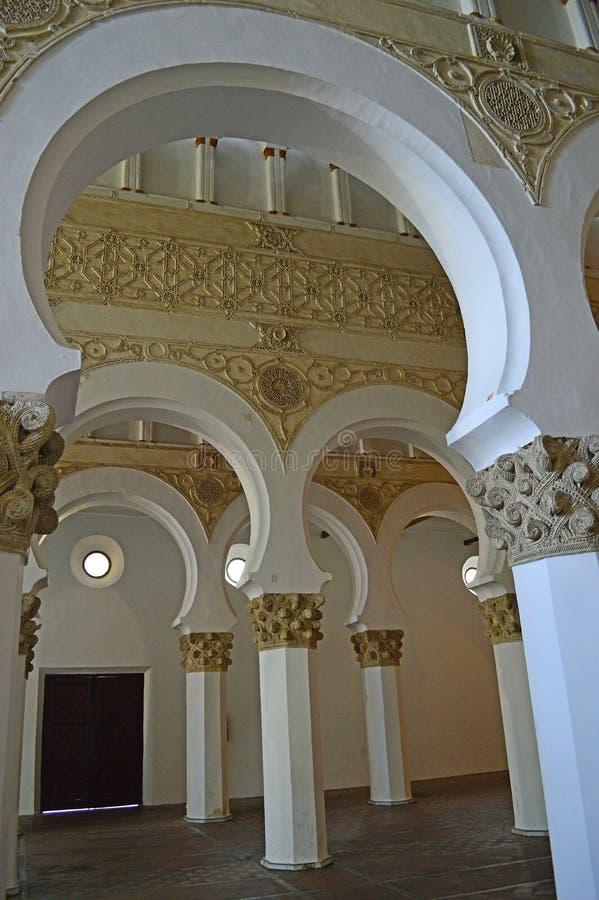 Santa Maria la Blanca Synagogue in Toledo Spain stock image