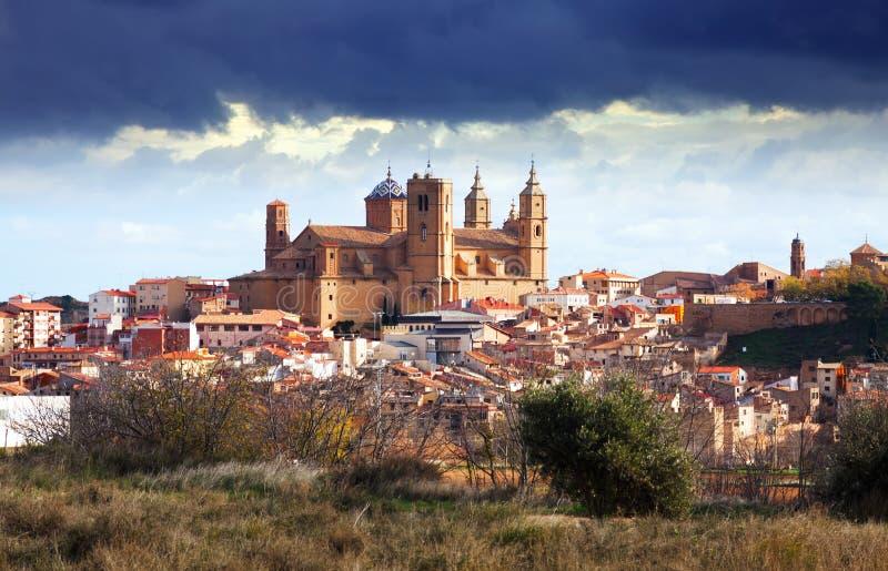 Santa Maria la Mayor a Alcaniz fotografie stock libere da diritti