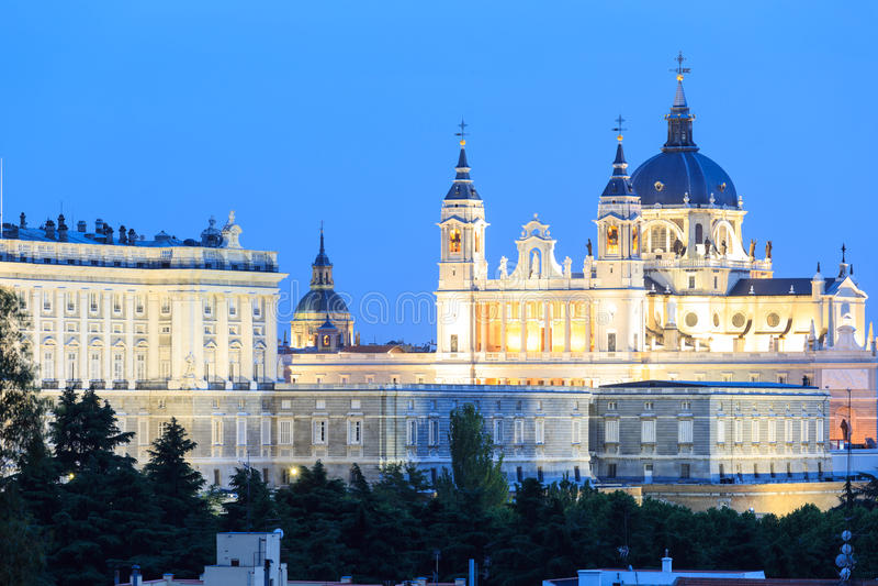 Santa Maria la Real de La Almudena stock foto