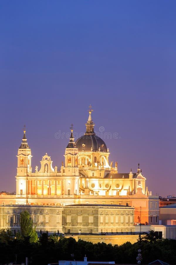 Santa Maria la Real de La Almudena in Madrid, Spanje royalty-vrije stock foto's