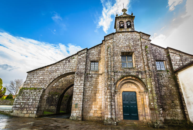 Santa Maria la Real del Sar fotografia de stock