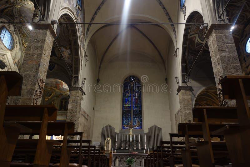 Santa Maria maggiorekyrka i Florence, Italien royaltyfri fotografi