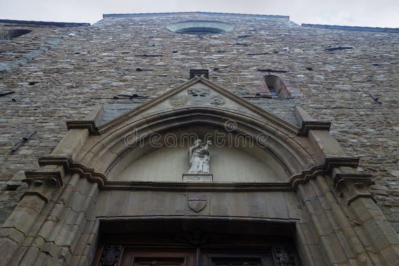 Santa Maria maggiorekyrka i Florence, Italien arkivfoto