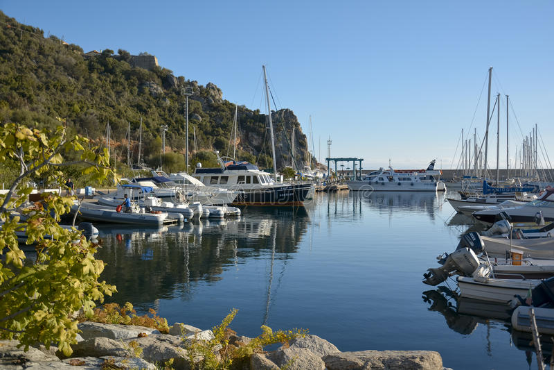 Santa Maria Navarrese, Ogliastra, sea port stock photo