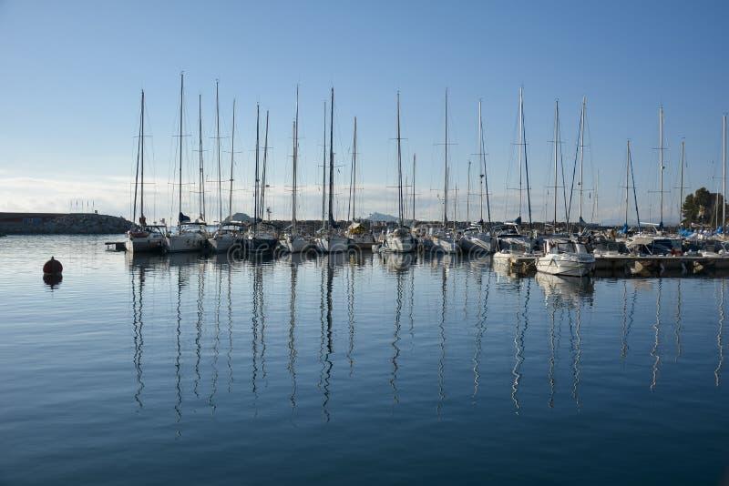 Santa Maria Navarrese, Ogliastra, zeehaven royalty-vrije stock fotografie