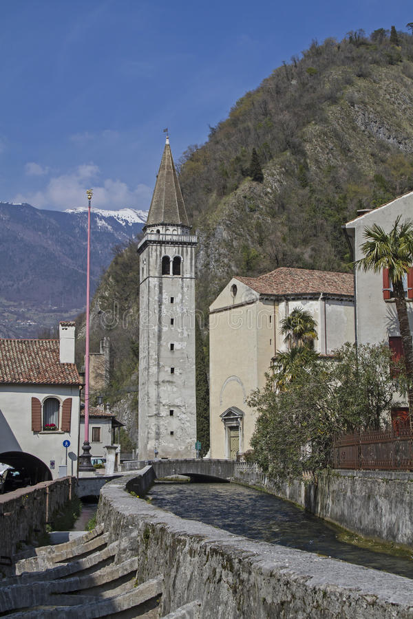 Santa Maria Nova - catedral en Vittorio Veneto fotografía de archivo libre de regalías