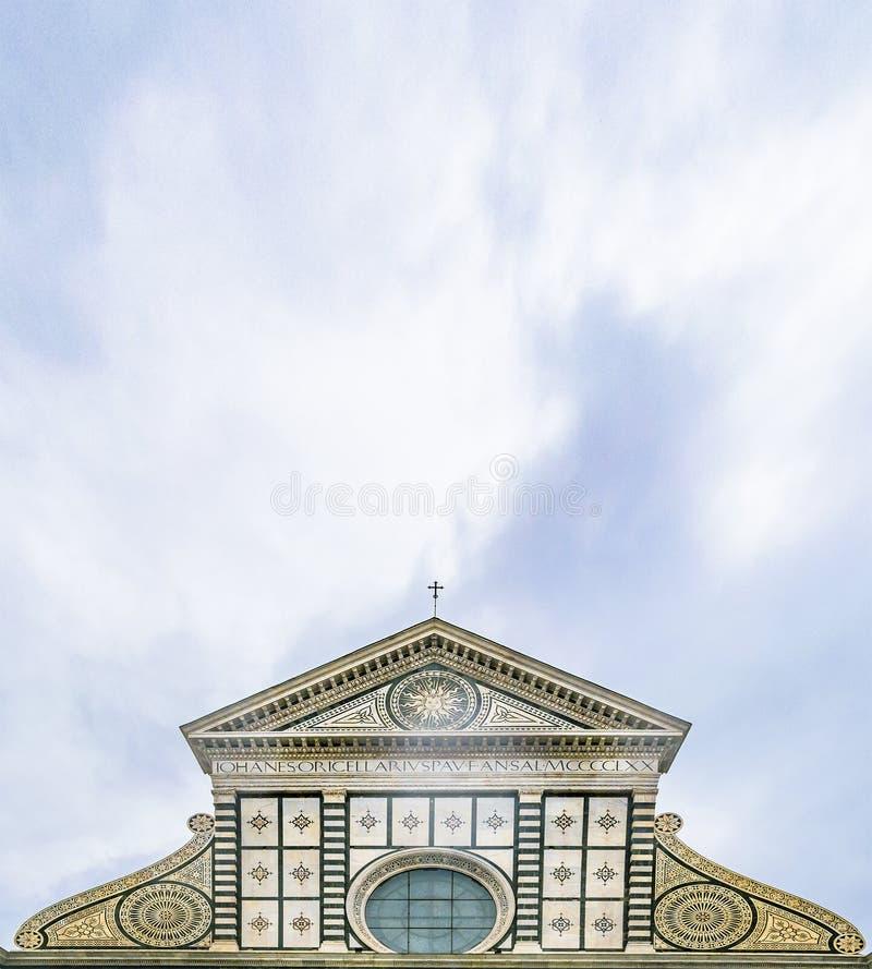Santa Maria Novella Church Exterior Detail View royalty free stock image