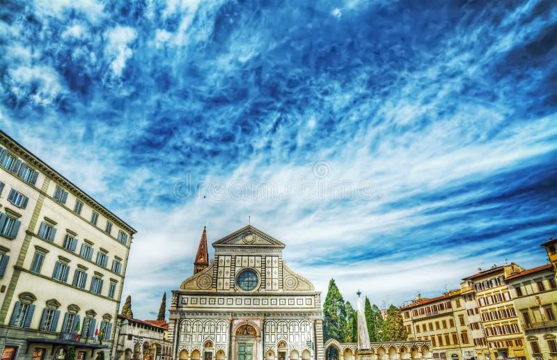 Santa Maria Novella square in Florence stock photos