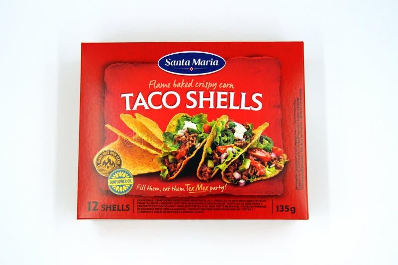 Santa Maria Taco Shells fotografia de stock