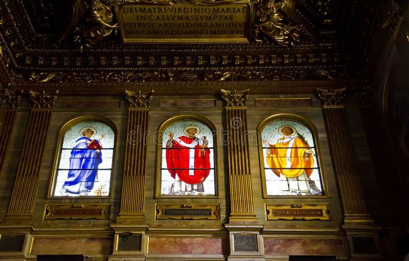 Santa Maria in Trastevere, Rome royalty-vrije stock foto's