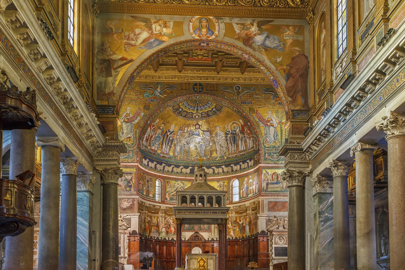 Santa Maria in Trastevere, Rome royalty-vrije stock fotografie