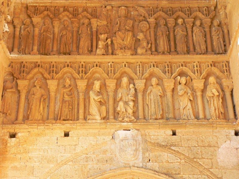 Santa Maria, Villalcazar De Sirga ( Spain ) Stock Photos