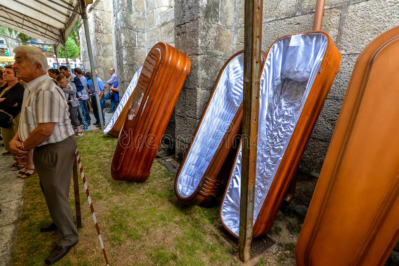 Santa Marta korowód - Galicia obrazy royalty free