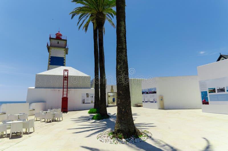 Santa Marta Lighthouse, Portugal stock afbeeldingen