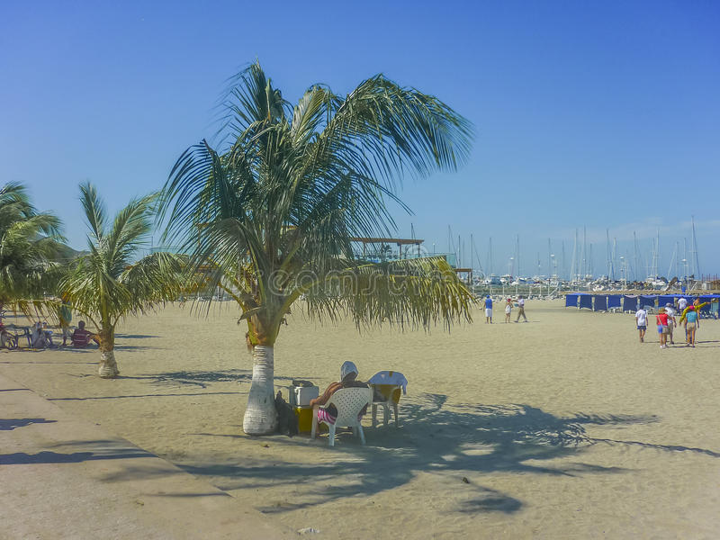 Download Santa Marta Plaża W Kolumbia Fotografia Editorial - Obraz złożonej z kolumbia, błękitny: 57662807