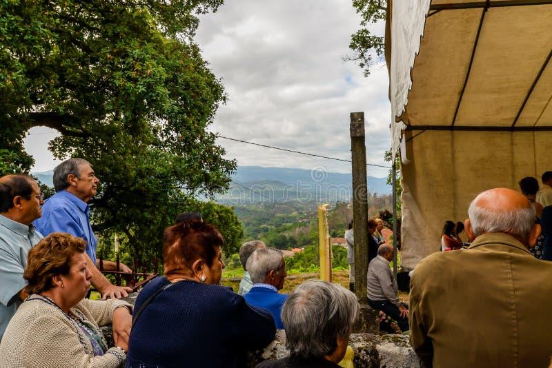Santa Marta Procession - Galicië royalty-vrije stock fotografie