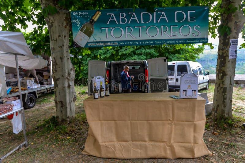 Santa Marta Procession - Galicia. Santa Marta de Riberterm - Galicia - Spain - 10/29/18 - The annual Santa Marta procession, giving thanks for surviving a near stock photo