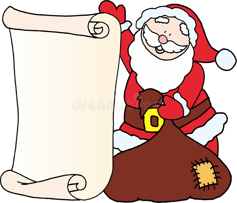 Santa Message Letter For Santa Claus Stock Image