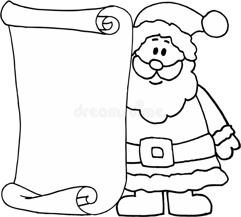 Santa Message Letter For Santa Claus Stock s Image