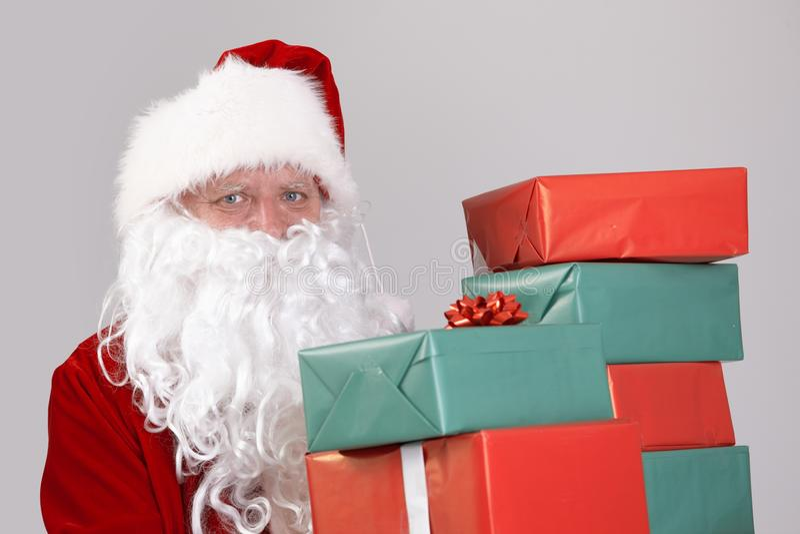 Santa mienia bożych narodzeń teraźniejszość obraz stock