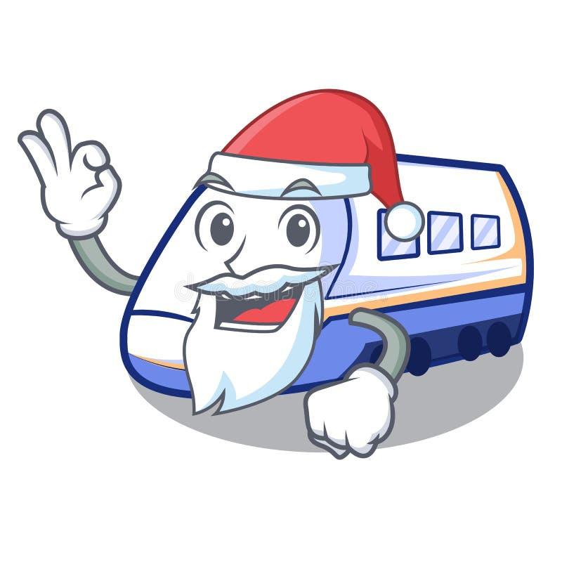 Santa miniatura shinkansen pociąg w kreskówka kształcie royalty ilustracja