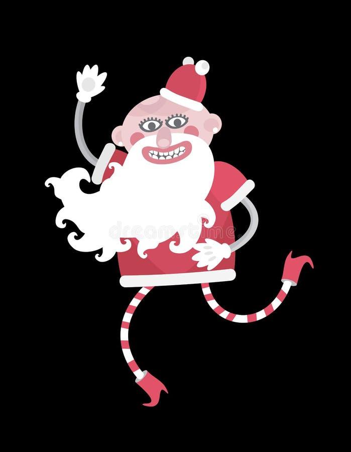 Santa - mody ofiara. royalty ilustracja