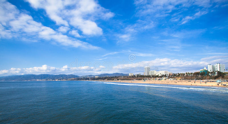 Santa Monica. View of Santa Monica from the pier royalty free stock image