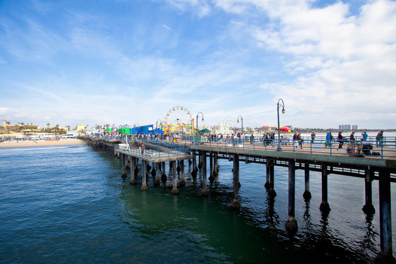 Santa Monica. View of Santa Monica from the pier royalty free stock photo