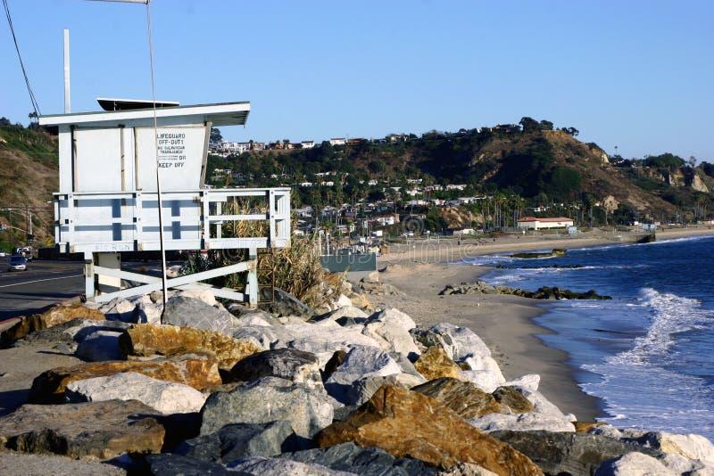 Santa monica. A beautiful beach at santa monica stock image