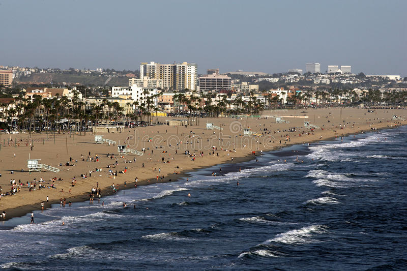 Santa Monica. Elevated view at Santa Monica Beach royalty free stock image