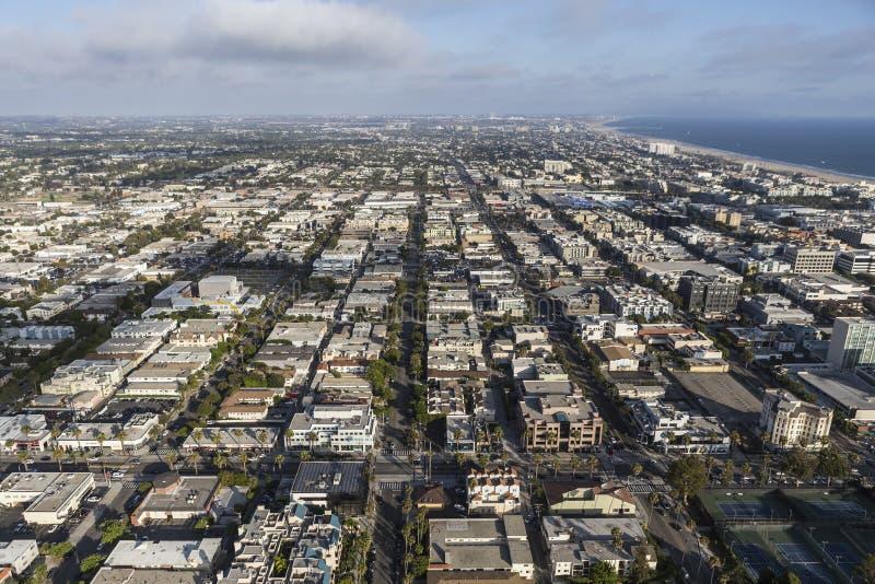 Santa Monica Aerial lizenzfreies stockfoto