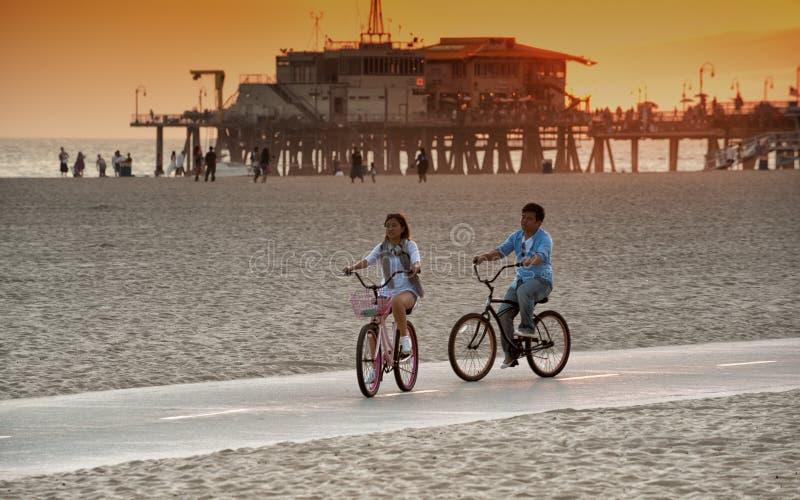 Download Santa Monica Atmosfär På Skymningen Redaktionell Fotografering för Bildbyråer - Bild av monica, santa: 27282234