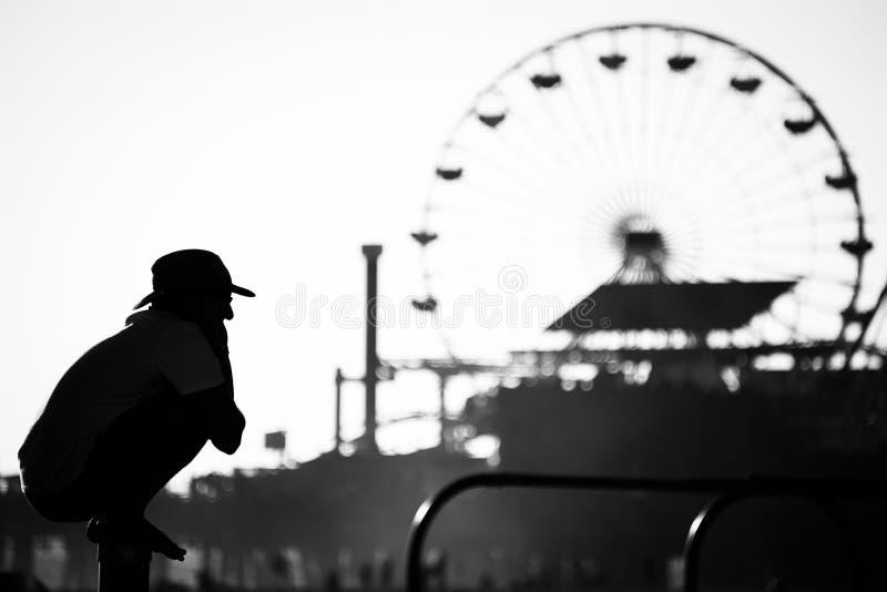 Santa Monica Beach fotos de stock