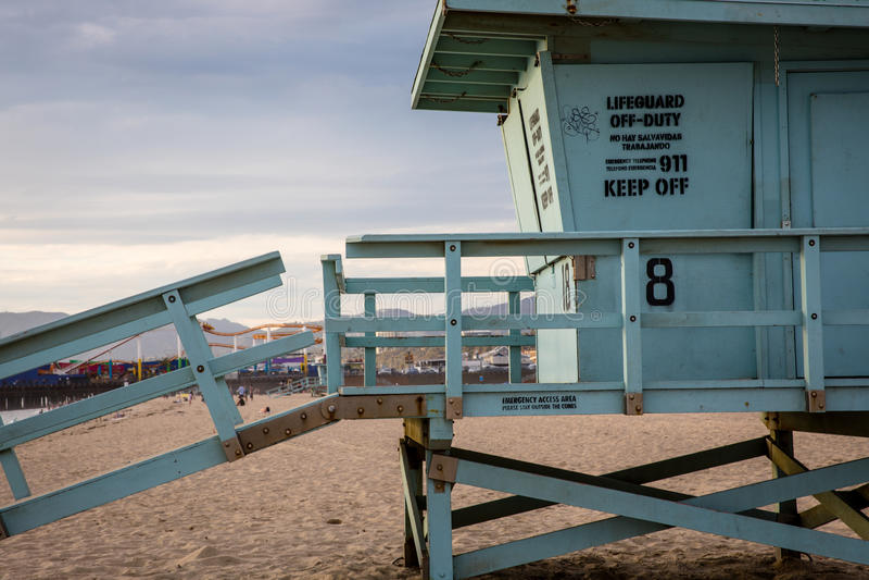 Santa Monica Beach stock afbeeldingen
